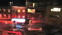 Sandy forces NYC building facade to collapse