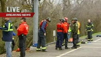 Rescuers Search For Car In American River