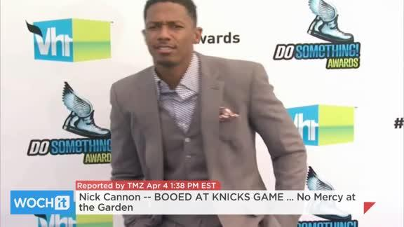 Nick Cannon -- BOOED AT KNICKS GAME ... No Mercy At The Garden