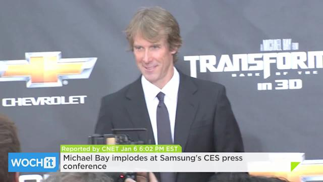Michael Bay Implodes At Samsung's CES Press Conference