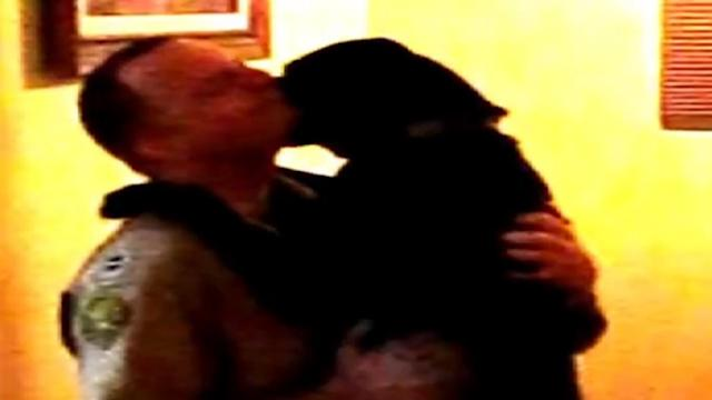 Dog's Emotional Welcome for Master