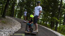 Toddler Loves to Longboard With Daddy