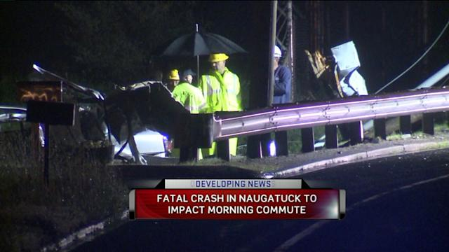 Deadly Car Accident Splits Telephone Pole In Half