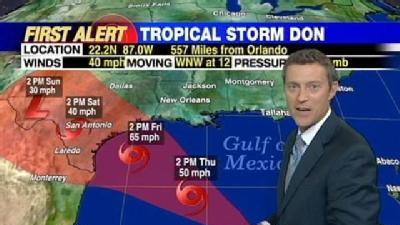 Tropical Storm Don Forms In Gulf