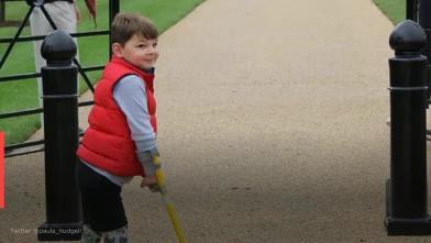 截肢5歲童撐拐杖 募4千萬回報醫院