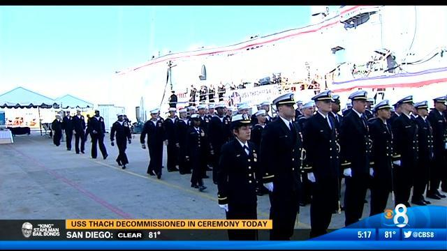 USS Thach decommissioned in ceremony Friday