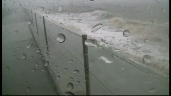 Isaac challenges Bay St. Louis seawall