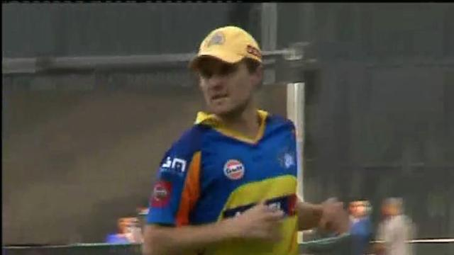 Chennai Super Kings in practice session