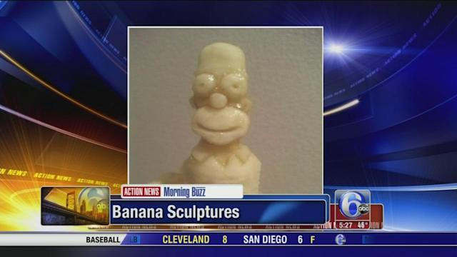 Artist turns bananas into sculptures