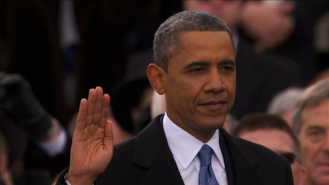 Obama publicly sworn in for second term