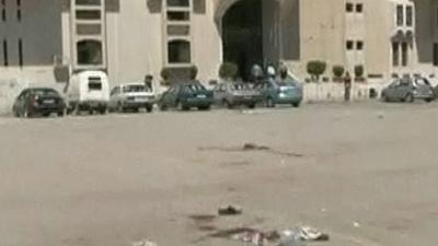 Raw: Mortar Attack Strikes Syrian Capital