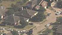 Aerials of deputy-involved shooting in west Harris Co.