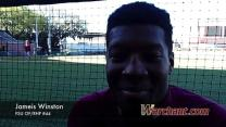 Warchant TV: Jameis Winston on his pitching debut