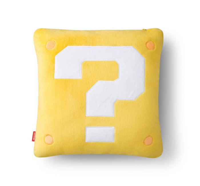 問號方塊抱枕
