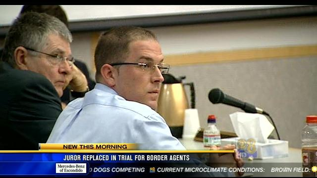 Juror replaced in trial for border agents