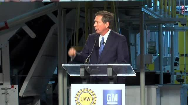 Gov. Kasich at Toledo GM