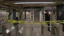 Subway hits fighting men, 1 dead, 1 injured