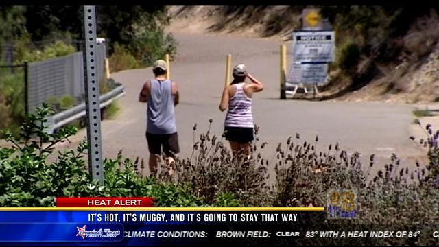 More hot, muggy weather in store for San Diego