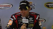 Kenseth talks about being points leader