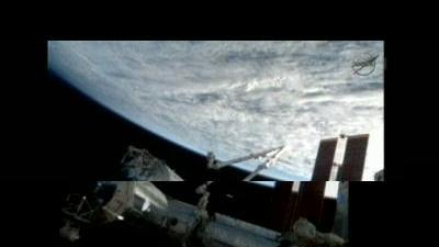 SpaceX Dragon in Space Station fly past