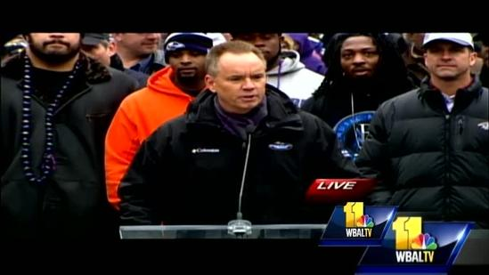 Ravens owner Steve Bisciotti thanks fans