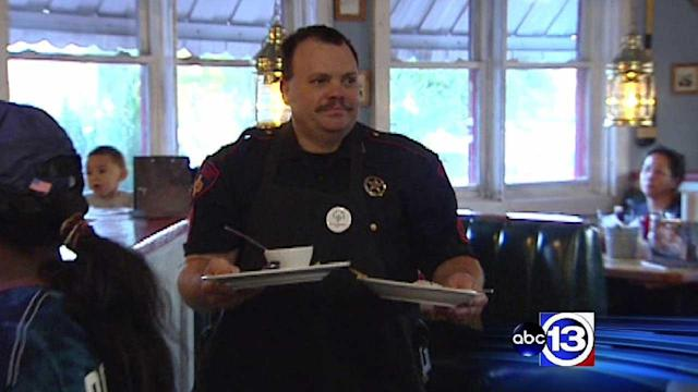 Waiting tables for a good cause