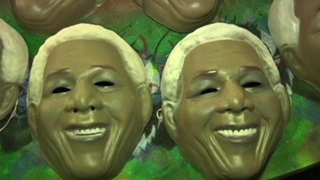 Mask factory faces demand for Mandela, Lennon