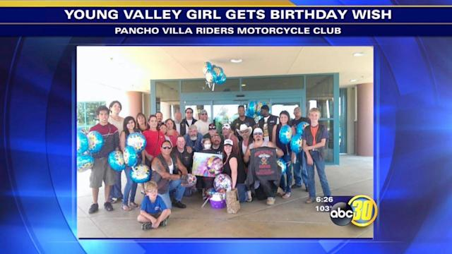 Motorcycle Club delivers balloons to young patients