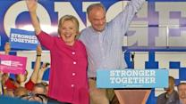 Hillary Clinton, Tim Kaine Campaign in Battleground States