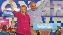 Hillary Clinton, Tim Kaine Campaign in Battleground States