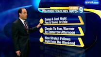 Warmer weather by Wednesday afternoon