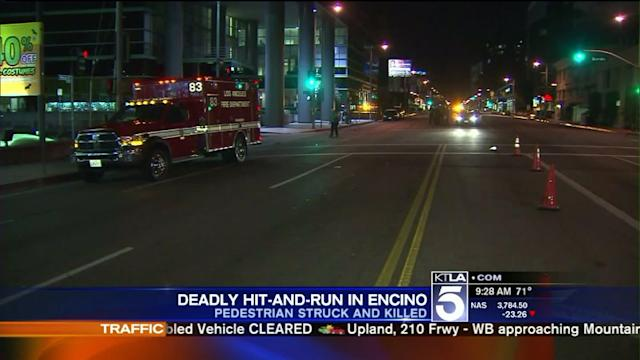 Cadillac SUV Sought in Deadly Encino Hit-and-Run