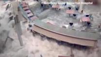 Flash flood swamps hospital cafeteria in Nebraska