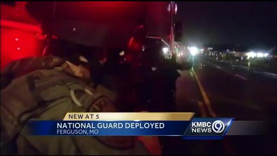 National Guard moves in to help keep calm in Ferguson