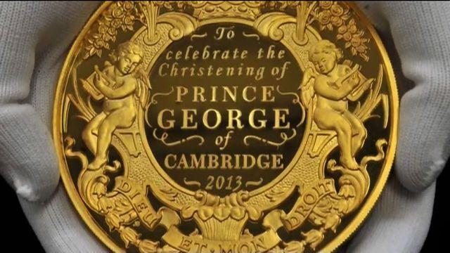 Prince George's christening coin unveiled