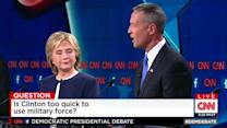 Clinton, Sanders, O'Malley spar over no-fly zone in Syria