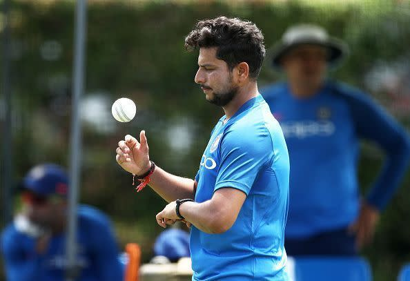 Kuldeep Yadav is now behind only Rashid Khan in the T20I rankings