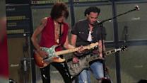 Johnny Depp Takes The Stage with Aerosmith in Massachusetts