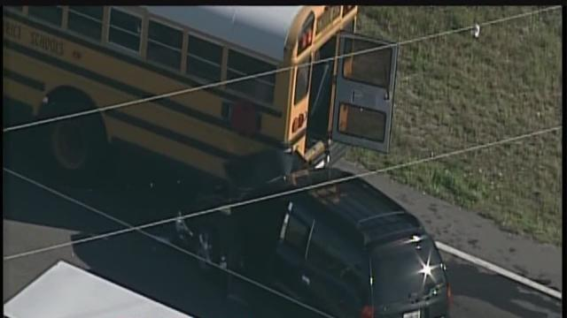 No injuries reported in school bus versus car crash in Big Bend area of Hillsborough County