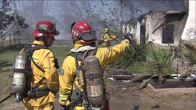 Structures, Vehicles Destroyed in Jurupa Valley Brush Fire