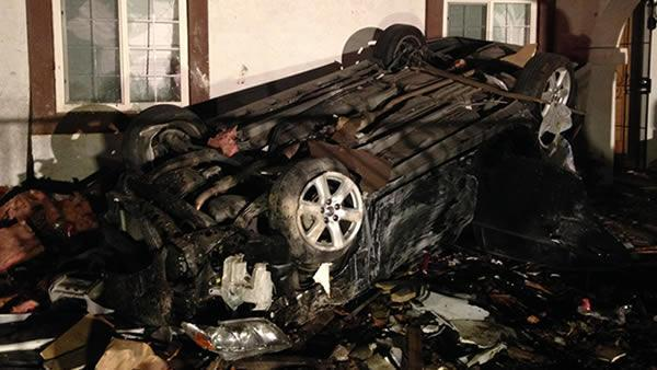 Extensive damage after car crashes into Antioch homes