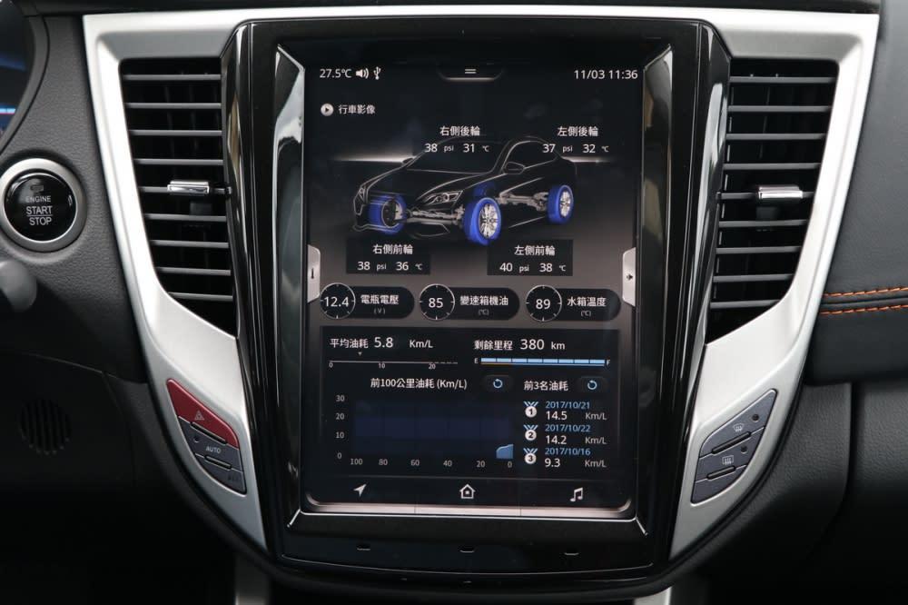 透過車機上方的虛擬按鍵就可進入九宮格的進階選單,這與Volvo的設計頗為類似,基本上所有設定都可以在此完成