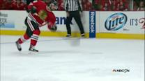 Nick Leddy fires in a rocket for the PPG