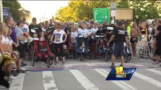 Runners take field for first 'NFL Back to Football Run'