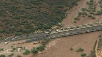 Heavy Rains Flood Arizona Roads