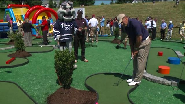 Celebrities Take To The Mini Golf Course