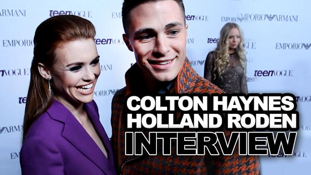 Colton Haynes & Holland Roden Talk Fashion, Cute Friendship & More