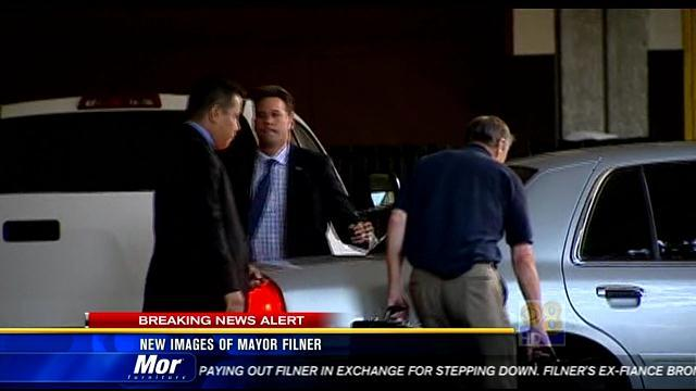 New images of Mayor Filner leaving City Hall