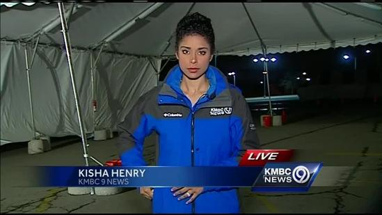 Drive-thru tent helps insurance agents keep up with hail damage