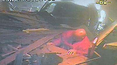 Raw video: Truck slams into Minn. bar